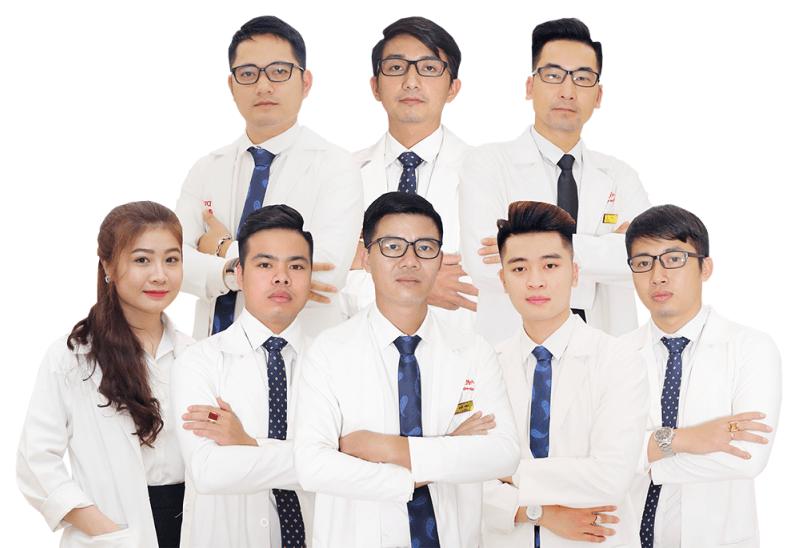 Đội ngũ chuyên viên, bác sĩ thực hiện dịch vụ