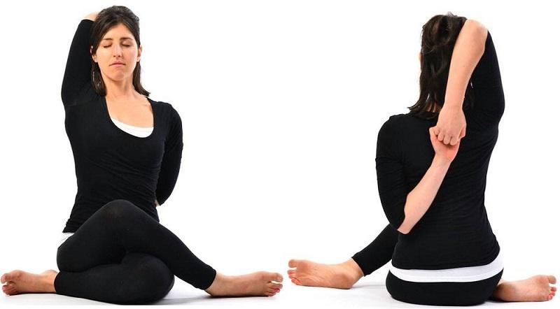 Đánh bay mỡ nách với bài tập yoga